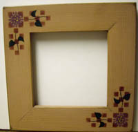 Beige with Flower Frame